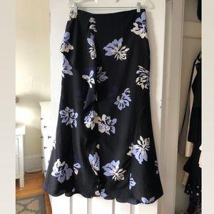 EUC - Floral Flowy Maxi Skirt